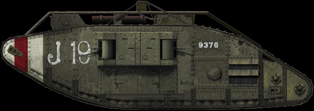 Tank Mark V composite