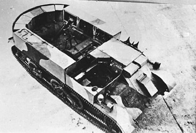 Australian Mk.I derived 3-in (76.2 mm) Mortar Carrier