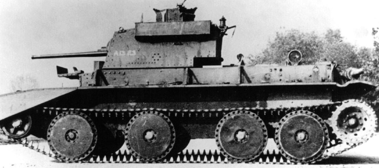 The A13E3 prototype. With some modifications, this is the variant that was adopted as the Cruiser Mk.III
