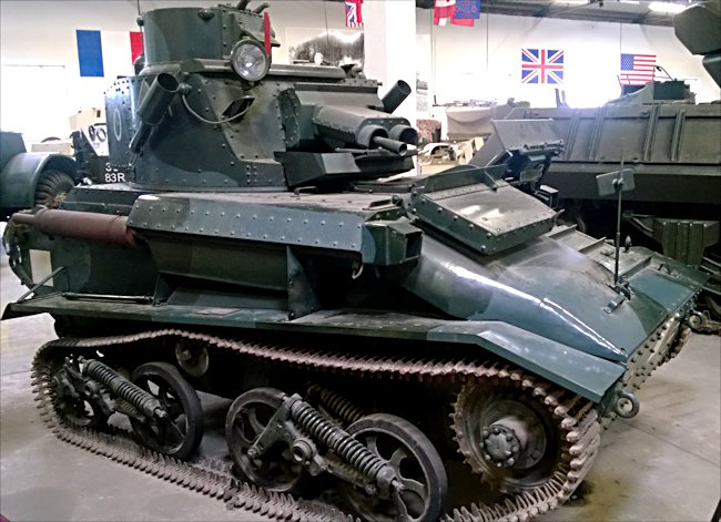 Vickers Light Tank Mk.VI at the French Tank Museum in Saumur