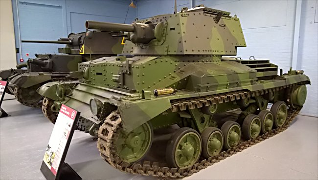 A10 British Cruiser Mk.IIA Close Support tank at the Bovington Tank Museum