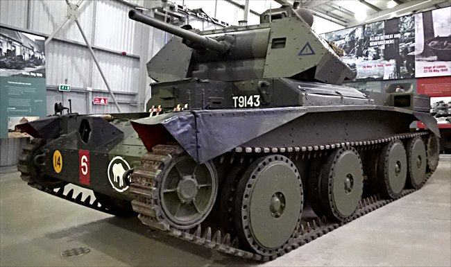 British A13 Cruiser MkIII tank with MkIV turret at the Tank Museum Bovington, England
