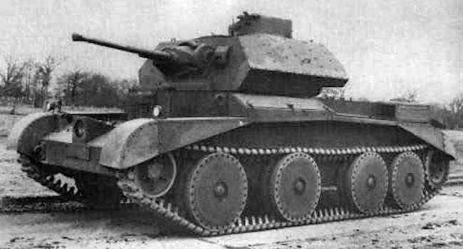 A13 Mk.II Cruiser Mk.IV, three quarter front view