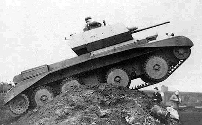 A13 Mk.II Cruiser Mk.IV during trials, 1939