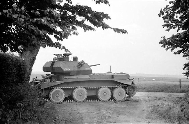 Knocked out British Cruiser Mk.IV tank during the battle of Huppy, 27th May 1940, France - IWM