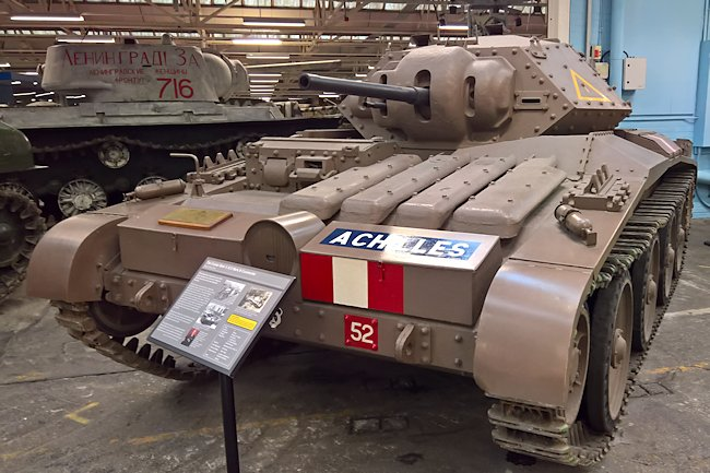 Preserved Covenanter A13 Mk.III Cruiser Mark V tank at the Bovington Tank Museum