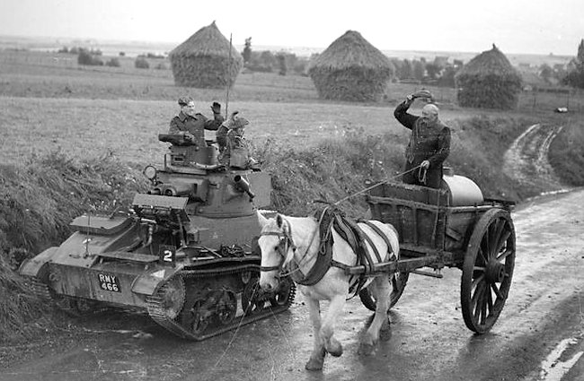 Vickers Mk.VI light tank of 13/18th Royal Hussars, 1st Infantry Division, France 1940