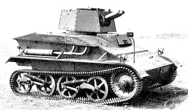 Vickers A4E19 prototype tank ready for trials.