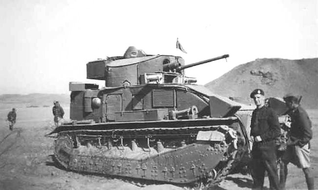 Tropicalized Vickers Medium Mark II tank in Egypt, 1936