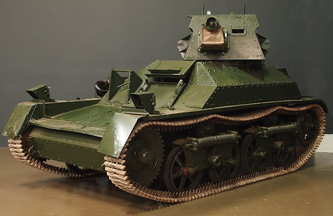 Vickers Mk.II Light Tank at the Tank Museum, Bovington, England