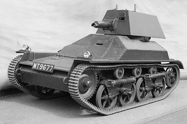 Vickers Armstrong Mk.IIA Light Tank on display at the factory