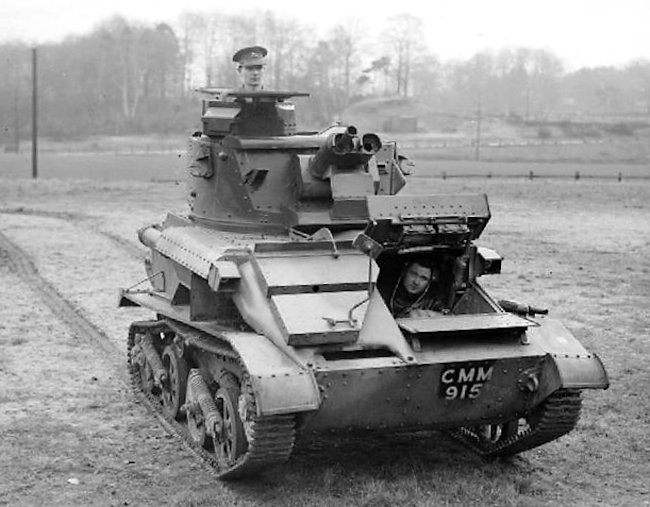 Vickers Light Tank Mk.VIa of the 3rd King's Own Hussars.