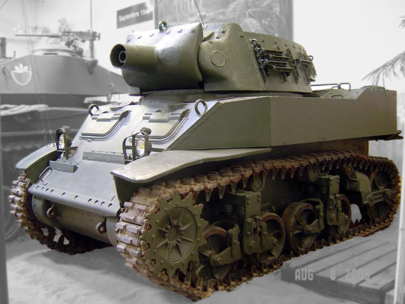 M8 Scott at the Saumur Museum - Credits: Wikipedia.