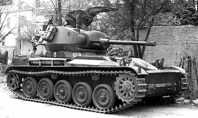 French Army 9th Hussard AMX-13 with a M24 Chaffee light tank turret.