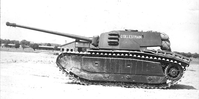 ARL-44 heavy tank with 90mm gun