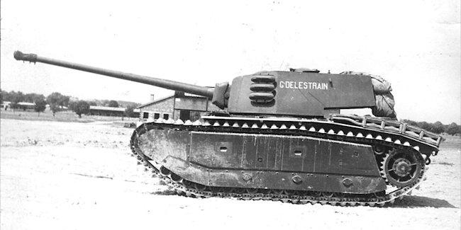 ARL-44 heavy tank with 90mm gun