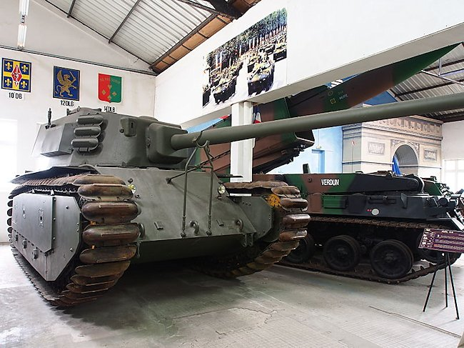 Preserved ARL-44 at the French Tank Museum, Saumur, France