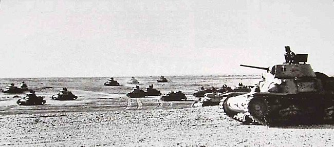 North Africa Italian Army M13/40 tanks