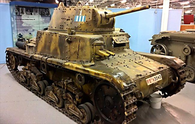 This WW2 Fiat Ansaldo Carro Armato M14/41 Italian Medium Tank can be found at the Tank Museum, Bovington, Dorset, England