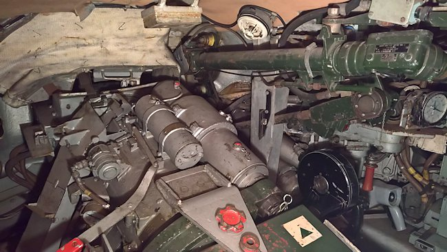 The main gun inside a Chieftain Tank Mk2/3