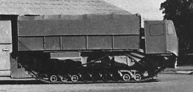 Churchill tank disguised as a lorry