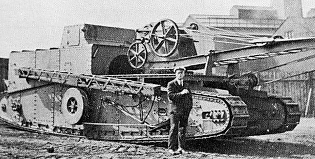 Gun Carrier Mark I crane conversion