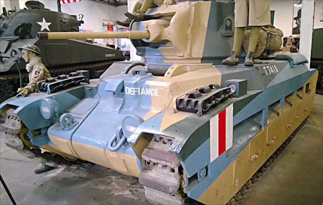 Surviving Matilda II British Infantry Tank A12 called Defiance at the French Tank Museum