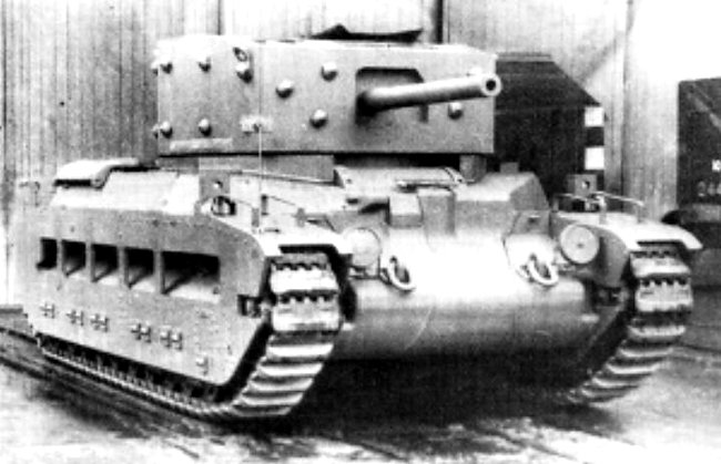 Matilda II with A27 turret (Black Prince)