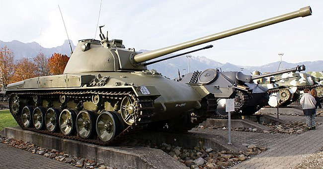 Panzer 58, 2nd prototype (20 pdr gun), at the Swiss Army Museum in Thun.