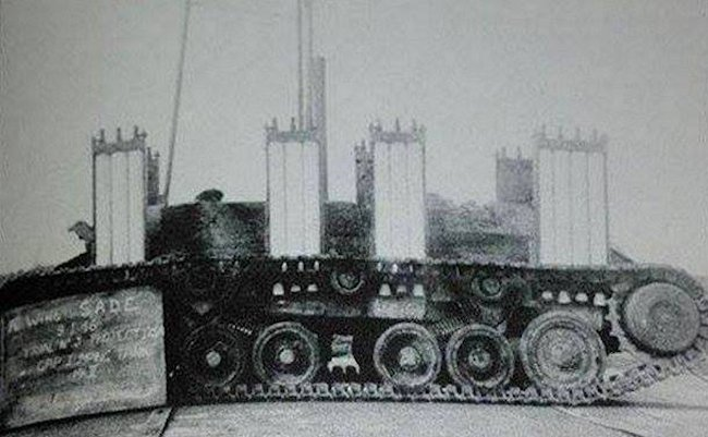 Gap jumping tank