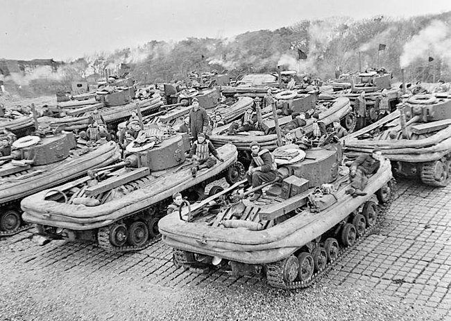Valentine DD tanks