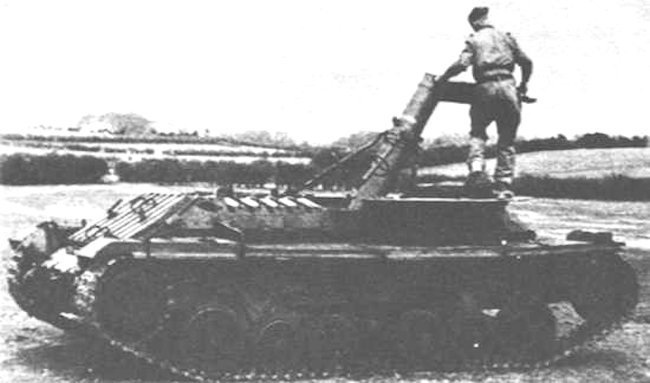 Experimental Valentine 9.75 inch flame mortar
