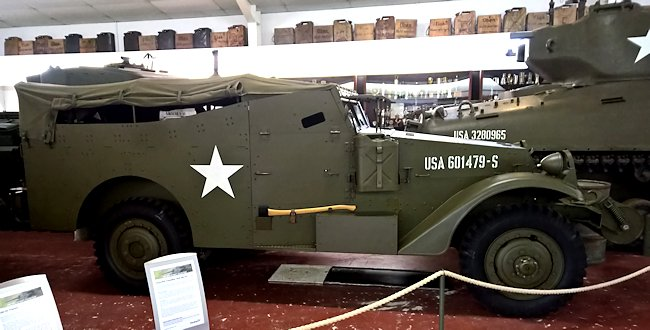 Preserved M3 White halftrack at the Wheatcroft Military Collection, Donington Race track, UK