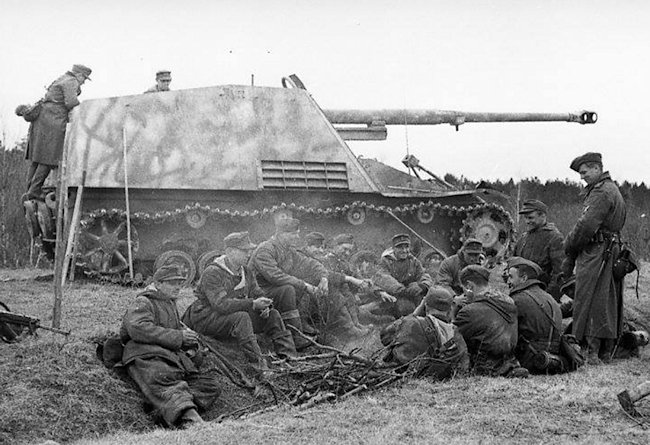 This photograph of a Nashorn 88mm self-propelled gun was taken in January 1944.