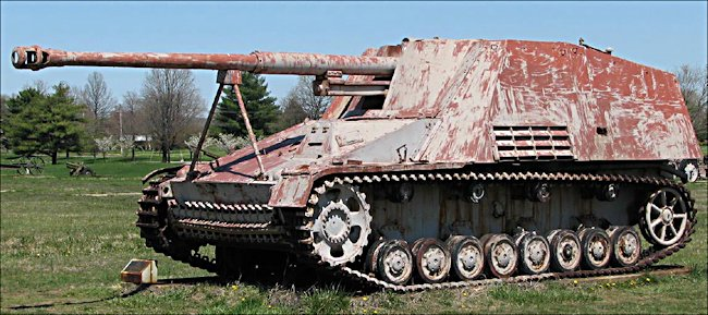 German Nashorn self propelled gun was used as a tank destroyer. It can be found at the U.S. Army Center for Military History Storage Facility, Anniston, AL, USA