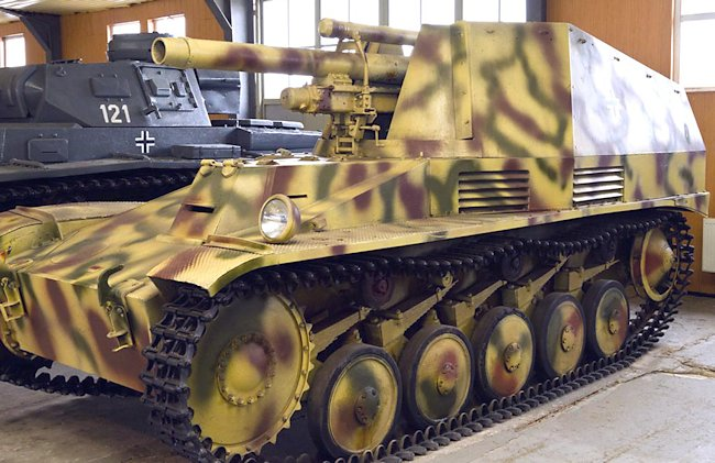 Wespe SPG at the Russian Tank Museum in Kubinka, Russia