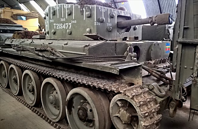 British Centaur Mark IV 95mm Tank at the Cobbaton Combat Collection Museum in Devon