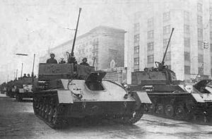 A ZSU-37 in the Red Square during a parade.