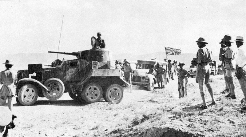 A BA-10M with a British column in Iran