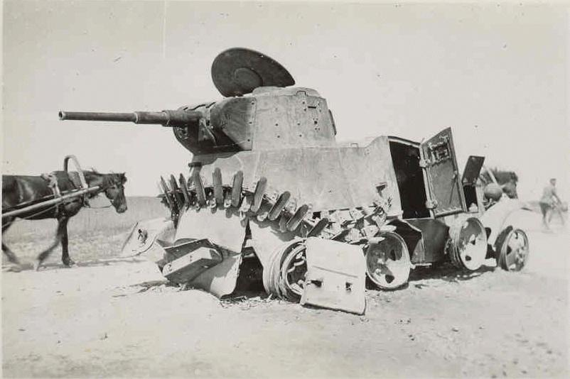 A BA-10M knocked out at Khalkhin Gol