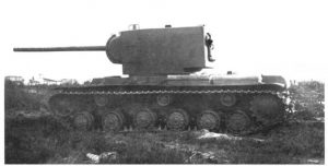 Another view of the KV-2 armed with the 107 mm gun