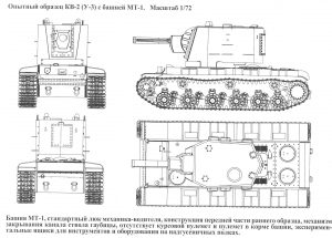 Blueprints of the KV-2, U-3 preseries prototype