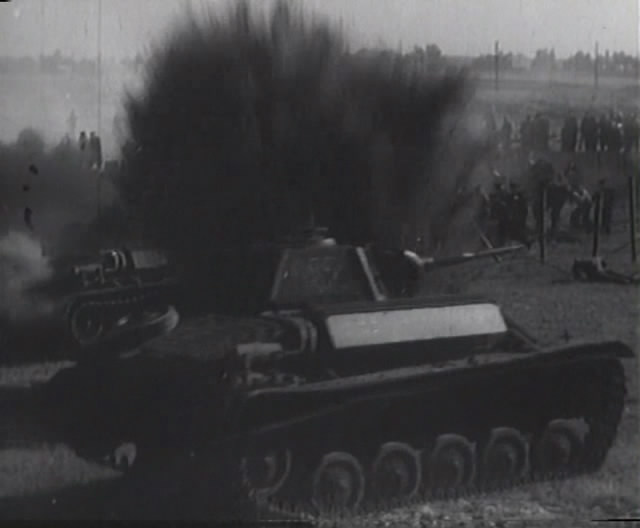 A T-70 in German service from the 1944 film The Marine Battalion.