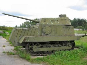 Another supposed reproduction KhTZ-16 or NI tank. The historical accuracy of this tank is extremely dubious