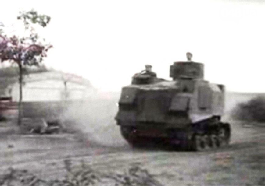 A very grainy photo of a NI. It is unclear where this photo is taken, but it appears to be original. This one appears to feature some additional plates below both sides of the crew compartments at the front of the hull. These may be additional armor plates or additional escape hatches, but it remains a mystery.