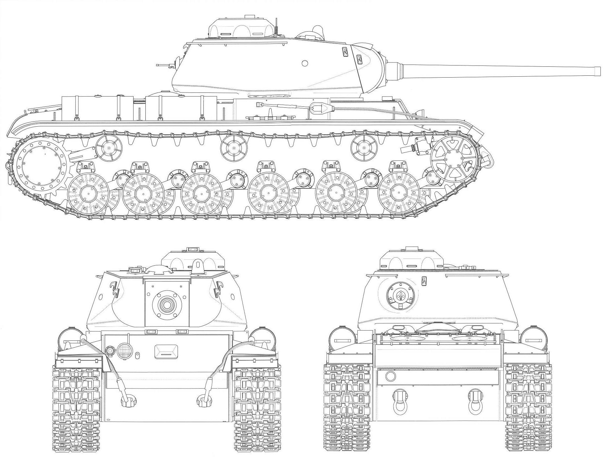 Technical drawing of a KV-85