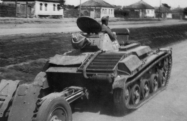 A T-60 in German service tows a Pak AT gun.