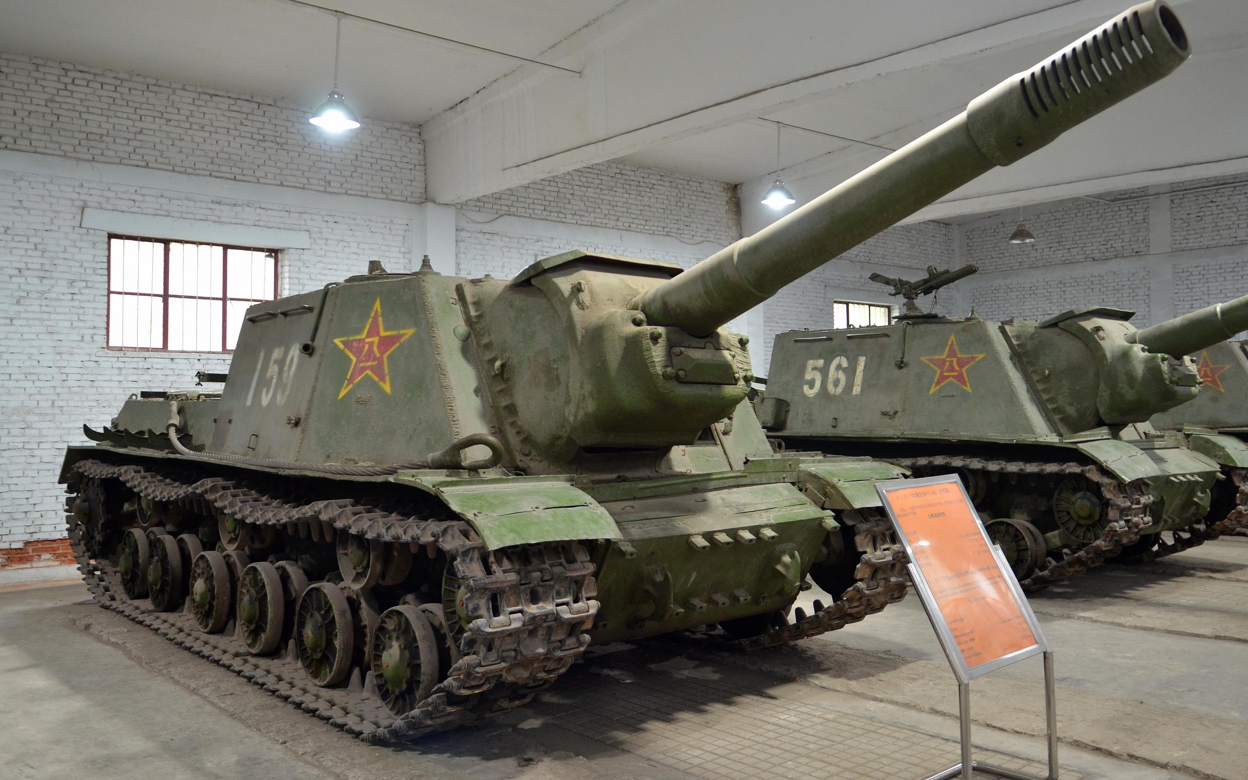 Pair of PLA ISU-152s preserved in a museum in Beijing.