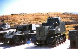 This tank, said to be near Mongolia, is often presented as KhTZ-16. However, this is a Disston Tractor tank with Afghan markings on it