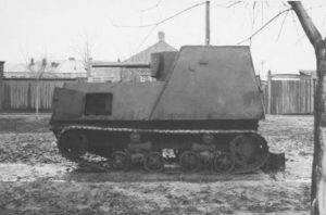 A perfect side-view of a KhTZ-16